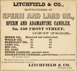 1845 Civil War Era Candle Ad